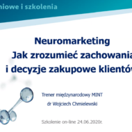 """Szkolenie online pt. """"Neuromarketing. Jak zrozumieć zachowania i decyzje zakupowe klientów"""""""