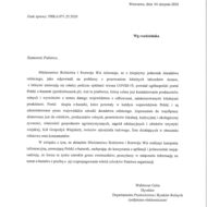 Pismo MRiRW ws. ogólnopolskiego portalu Polski e-bazarek