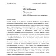 Pismo z Głównego Inspektoratu Sanitarnego dotyczące różnić występujących w polskiej wersji jęz. rozporządzenia Komisji (UE) 2020/771