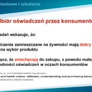 """Wewnętrzne szkolenie online pt. """"Oświadczenia żywieniowe i zdrowotne"""""""