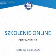 """Zaproszenie na szkolenie online pt. """"Praca zdalna"""""""