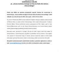 """ZAPROSZENIE  KONFERENCJA ONLINE pt. """"Ocena skutków strategii od Pola do Stołu dla sektora mleczarskiego"""""""
