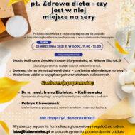 Zaproszenie do udziału w kolejnej konferencji z cyklu FAKTY I MITY O MLEKU, sfinansowanej z Funduszu Promocji Mleka